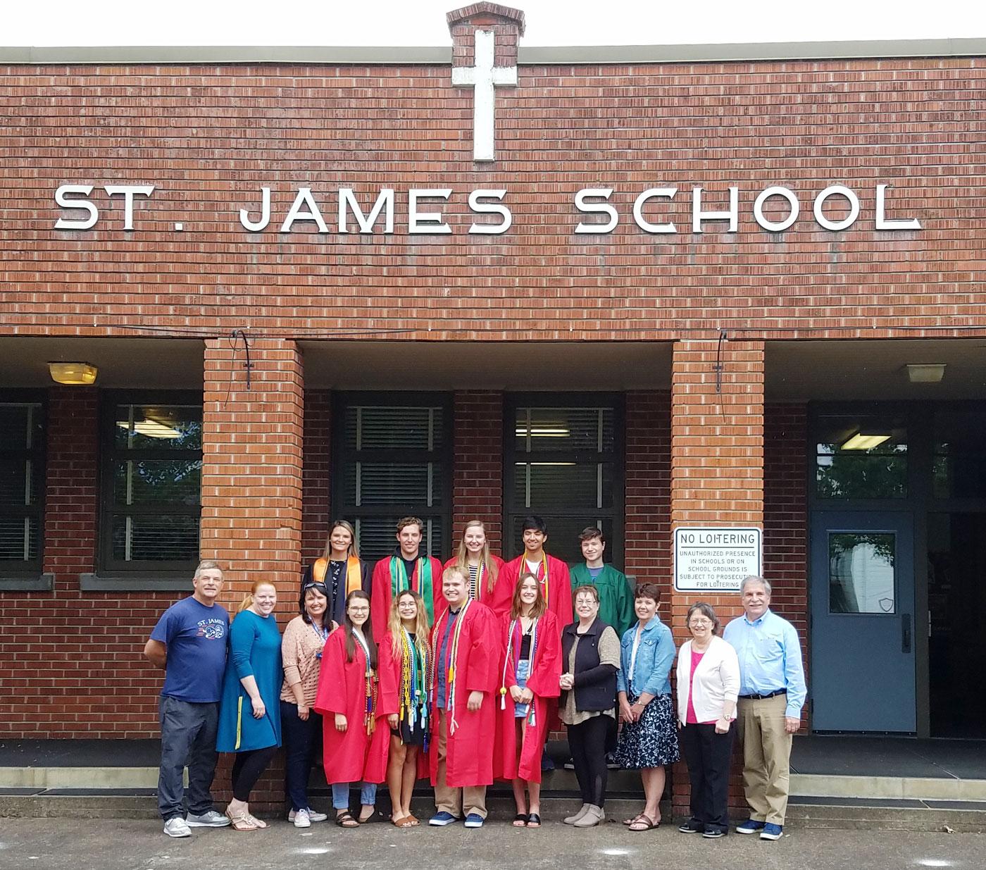 st james school hs graduates staff 2019
